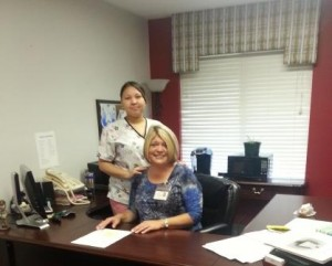 Delores Fisher, Admin and Larissa Locklear, DON-sm